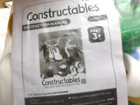 TOMY Motorized CONSTRUCTABLES  DINOS Building set complete Toys