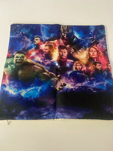 """New Pillow Case 16"""" by 16"""" PILLOW CASE ONLY Avengers Thanos Infinity Hulk"""