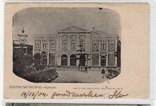CHILE IQUIQUE Teatro Municipal USED postcard Ed. L. Bolivar