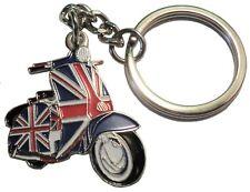 GB Union Flag Covered MODS Scooter Metal Enamal Keyring MOD Scooterist Lammy