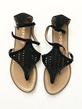 Black Flat Sandals by Report Size 6 - Worn Once