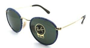 Ray-Ban Sunglasses RB 3475Q 9194/31 50-21-145 Round Craft Blue Denim /Green G-15