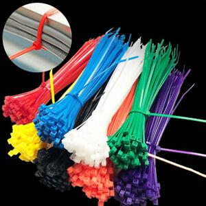 100Pcs Cable Zip Ties Self-Locking Plastic Nylon Wire Resitance Tie Wraps