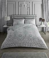 Floral Print Duvet Cover Set Single Double Super King Size Stripe Bedding Set