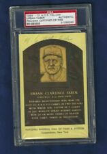 Urban Red Faber Autographed Chicago White Sox Baseball HOFer Plaque Postcard PSA