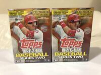 (2) 2020 Topps Series 2 Blaster Box MLB Baseball New Sealed