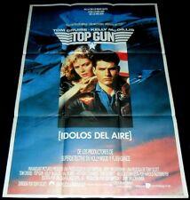 1986 Top Gun ORIGINAL 86' SPAIN POSTER Tom Cruise Kelly McGillis Tony Scott