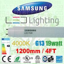 4 x Samsung 1200mm/4ft 19w Ultra Efficient LED T8/G13 Tube Light 4000K Neutral
