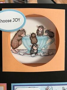 Stampendous cling mounted rubber stamp - HOUSE MOUSE - MARSHMALLOW MUNCHING