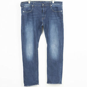 G-Star 3301 Straight Jeans Coupe Standard Extensible Bleu Hommes Taille W40 L34