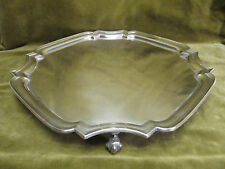 Large english sterling silver footed serving tray Sheffield 1937 1107g E Viner
