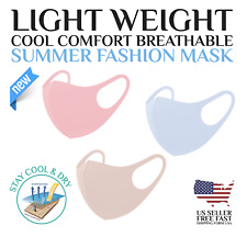 Set of 3 Light Weight 3D Fashion Unisex Face Mask Washable Reusable Breathable