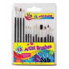 Paint Brushes Childrens Kids Artist 15 Assorted Brushes, Art and Crafts