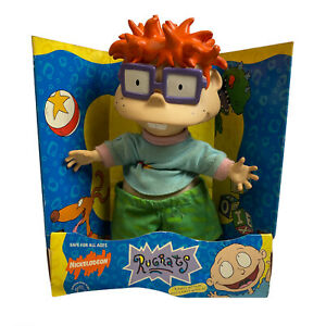 Mattel Rugrats Chuckie Finster Plush Doll Rare Applause Vintage 1997 Toy Figure