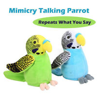 Mimicry Pet Speak Talking Parrot Repeat What You Say Plush Electronic Kids Toy G