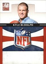 2011 Donruss Elite Rookie NFL Shield #34 Kyle Rudolph Vikings /999