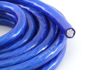 KnuKonceptz Bassik Blue 0 Gauge Amplifier Power/Ground Wire TRUE 1/0 AWG 25Ft