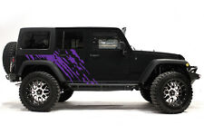 Vinyl Decal Wrap Kit fits 4-Door 2007-2016 Jeep Wrangler Rubicon SPLASH - Purple