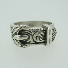 Vintage Sterling Silver Western Belt Band Ring Size 6