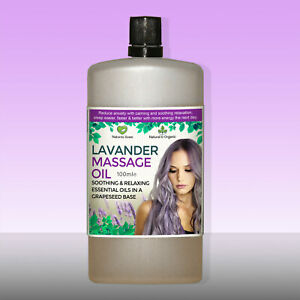 Lavender Massage Oil Relaxation Sleep Aid Natural Essential Oils Aromatherapy