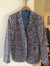 NWOT Suslo Couture Christmas Candy Cane Slim Fit Blazer Jacket Size Large 42