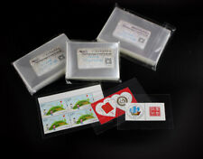 300 Pcs Stamp Sleeves Holders Collection Professional Protection Bag Big Size