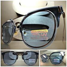 CLASSIC VINTAGE 60s RETRO Style SUN GLASSES Unique Gunmetal Wire Frame Blue Lens