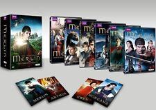 Merlin: The Complete Series season 1-5 (DVD 2014, 24-Disc Set) W/Bonus Features