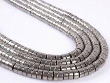 "6mm Gemstone pyrite heishi loose beads 15.5"""