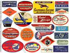 21 AIR CARGO TRAVEL TRUNK Stickers, 1 Sheet, Airline Luggage Label REPRODUCTIONS