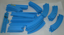 Lot of Vintage Tomy Thomas The Train Blue Track & Switches L+R - 45 Pieces Total