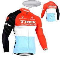 Winter Fleece Thermal Men's Riding Clothing Long Sleeve Cycling Jerseys MTB Bike