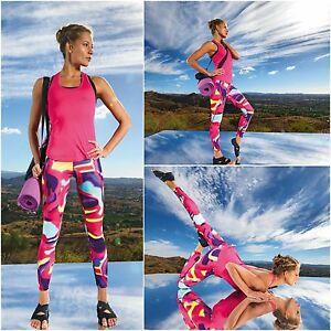 Ladies Running Patterned Leggings Yoga Pants Womens Jogging Gym Fitness Pilates
