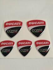 Kit DUCATI corse PANIGALE moto casco cell. adesivi ducati x5 in resina 3d gel