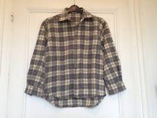 Chemise grise et blanche à carreaux / chaude/ laine- JODHPUR - 10 ans