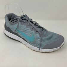 Nike Flex Experience RN 4 Womens Size 8 Running Shoes Gray Blue