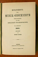 Monatshefte für Musik Geschichte  Jahrgang  1893 Breitkopf & Härtel