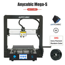 "US Anycubic Upgrade I3 Mega S 3D Printer Ultrabase 3.5"" TFT With Extra 1KG PLA"