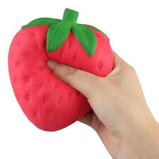 Large Jumbo Stress Stretch Squishy Squeeze Strawberry Scented Slow Rising Toys