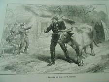 A prisoner of War Gravure Antique Print 1870