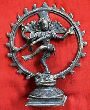 Ashram Temple Decor Brass Nataraja Dancing Lord Shiva Hindu God Statue WG21