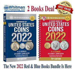 New Official Red Book Price Guide United States US Coins + Blue Book 2022 Lot