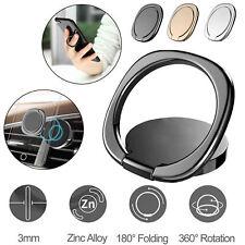 360° Finger Ring Stand Car Magnetic Metal Plate Phone Holder Desk Bracket
