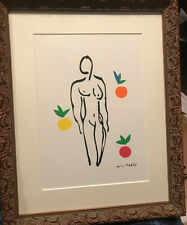 Henri MATISSE SIGNED Lithograph Nude -Oranges With Matted Frame- Full Signature