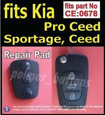 Suits Kia Sportage remote key part No.CE0678 - 1 Repair Silicone key Button Pad