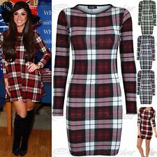 Stretch, Bodycon Polyester Check Unbranded Dresses for Women