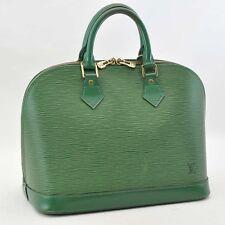 Authentic  Louis Vuitton Epi Alma  Hand Bag Green M40618 #S2283