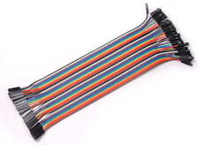 New 40PCS Jumper Wire Cable 1P-1P 2.54mm 20cm For Arduino Breadboard Sale UL