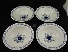 "SET OF 4 ADAMS BALTIC 6"" RIM CEREAL BOWLS NEWER STYLE"