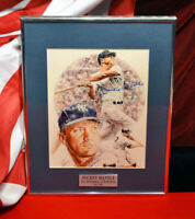 Signed MICKEY MANTLE Autograph, Frame, COA UACC YANKEES Art, DVD, NEWSPAPER